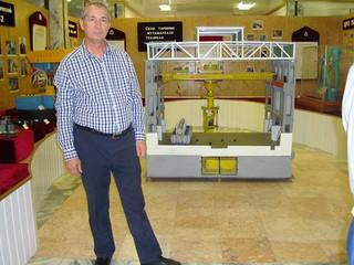 European Council on Tourism and Trade delegate Romanian Minister Petru Lificiu at Tursunzade Aluminium Museum