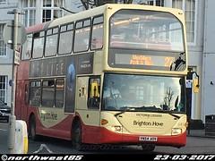 643 (northwest85) Tags: brighton hove yn54 aov 643 victoria lidiard scania omnidekka east lancs 27 westdene park ride old steine bus yn54aov