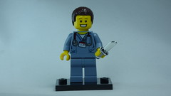 Brick Yourself Bespoke Custom Lego Figure Happy Doctor with Sharp Knife