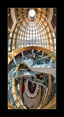 Liverpool Central Library (tkimages2011) Tags: stairs view pano vertical glass liverpool central library floors levels architecture atrium lines curves graphic geometric man panorama panoramic