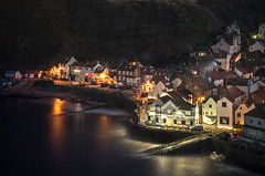 Staithes (Glenn D Reay) Tags: staithes northyorkshire coast coastal sea buildings houses nightime night longexposure illuminated pentaxart pentax k30 sigma1770hsm glennreay