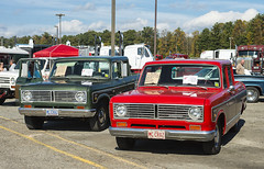 A pair of 1973 International Wagonmaster pickups (Thumpr455) Tags: americantruckhistoricalsociety westernnorthcarolinaagcenter arden nc october 2016 aths truck nikon d800 northcarolina machinery international wagonmaster pickup ih 1973