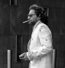 Rock n' Roll Star (bensonfive) Tags: smoking fashion cigarette trendy streetphotography blackwhitephotography monochrome victoria london canon 5d 50mm