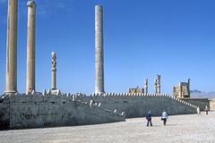 Found Photo - Iran - Persepolis - Archeological Site 02.tif (David Pirmann) Tags: iran ruins archeology persia persian unesco worldheritage xerxes parsa takhtejamshid achaemenid dpfoundphotoasia1976 persepolis