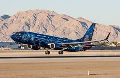 WestJet (Disney World Livery) - Boeing 737-8CT - C-GWSZ (ejtope) Tags: cgwsz klas las mccarran aviation boeing westjet airlines 7378ct aircraft 737 738 airplane disney world
