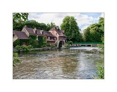 Moulin de Fourges (MOINELE) Tags: moulin eau arbres cascade pont nuages vexin eure normandie france