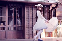 SDF_2147 (SendoFu) Tags: bonnet ボンネット エプロン風スカート blouse bl ブラウス headbow kc カチューシャ bnt 蕾絲 維多利亞 jsk op onepiecedress ワンピース jumperskirt ジャンパースカート nop lolita lolitafashion 蘿莉塔 蘿莉塔時裝 ロリータ・ファッション sweetlolita classicallolita