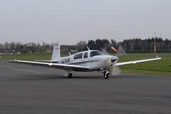 N2165N Mooney M20 (eigjb) Tags: weston airport dublin eiwt light aircraft general aviation airplane plane spotting 2017 aeroplane n2165n mooney m20 ireland march