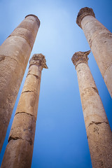 The ruins of the Greco-Roman city of Gerasa, Jerash, Jordan
