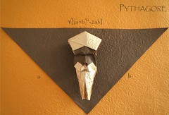 Pythagore (lucienderainne) Tags: origami pliage triangle pythagore
