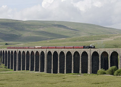 48151 Ribblehead Viaduct 11-06-14 (prof@worthvalley) Tags: uk railroad all transport railway steam locomotive types ribblehead 8f 48151