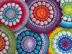 Rosetta Mandala and Potholders (Just-Do) Tags: crochet mandala potholders