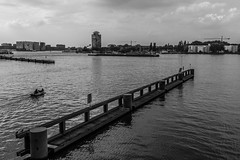 (McQuaide Photography) Tags: city blackandwhite bw holland water netherlands monochrome amsterdam canon eos blackwhite europe nederland dslr stad 100d mcquaidephotography