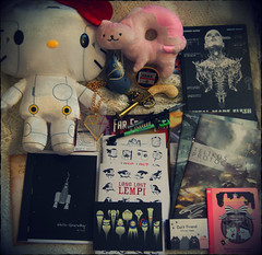 Expo Haul May14 (Capt. arkaya) Tags: hello cute cat shopping comics robot expo may kitty plush kawaii plushie scifi haul mcm 2014 arkaya