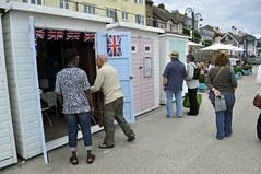 Lyme Regis (dawn.v) Tags: street uk sea summer england beach coast seaside candid july promenade dorset southcoast unionjack beachhuts lymeregis bunting britishseaside jurassiccoast