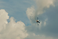 It's much more fun when the company pays the fuel... (tonal decay) Tags: sky berlin clouds fighter flames jet engine wolken f16 solo heat ila trk 2014