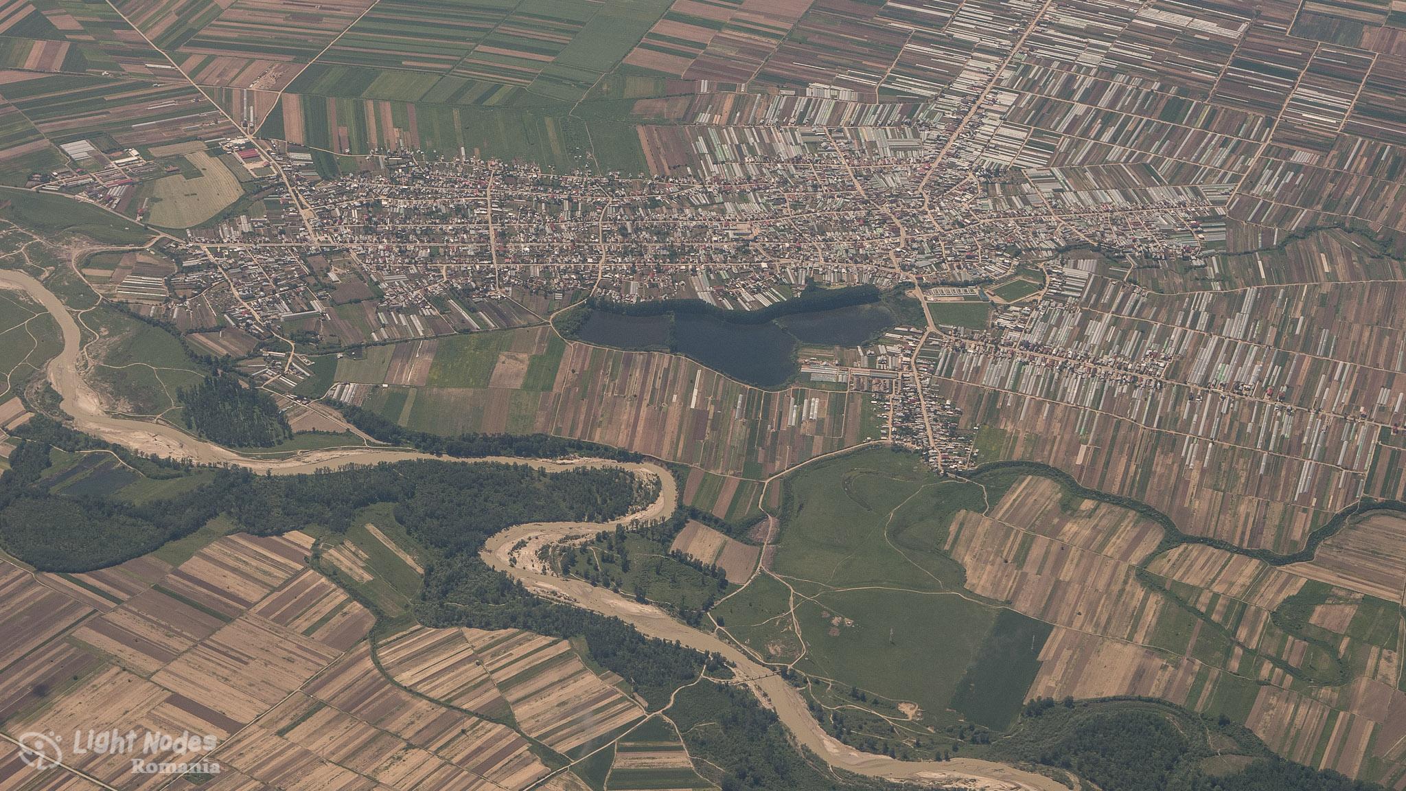 A riverside town in Romania