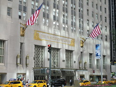 The Waldorf Astoria Hotel Park Avenue 2014 NYC 2882 (Brechtbug) Tags: above park new york city nyc streets art by architecture 1931 marquee hotel design exterior with aztec manhattan cab taxi side towers waldorf entrance landmark flags east midtown american mayan astoria hanging schultze weaver 50th avenue architects deco built between designed 301 the influence 2014 51st 07052014