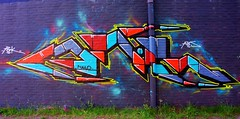 One building, one idea! ( 114th picture of the same building ) (tusuwe.groeber) Tags: blue red streetart colour building green rot art sport yellow project germany graffiti jujitsu sony gelb colourful grn bla