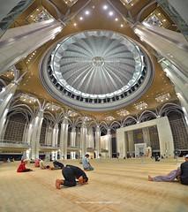 The Steel Mosque | Main Prayer Hall | Putrajaya (Arief Rasa) Tags: mosque putrajaya putrajayamosque vertorama masjidbesi ironmosque masjidtuankumizanzainalabidin steelmosque