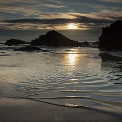 Evening ripples (Simon Bone Photography) Tags: sea summer sky cloud sun beach silhouette sand cornwall waves ripples 2014 bedruthansteps cornishcoast cornishsunsets canonef1740mmlf4 canoneos5dmkii hitechnd09reversegrad wwwsimonbonephotographycouk