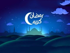 Welcome Ramadan (khawla ashour) Tags: blue anime art night clouds photography amazing artist graphic muslim islam famous mosque arabic arab arabia ramadan month gfx islamic kareem   ramadankareem