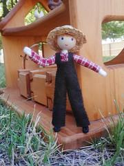 Miniature farmer doll Wildflower Innocence 3 (wildflowertoys) Tags: woodentoys dollhousedolls toybarn bendydoll naturaltoys waldorftoys elvesandangels dollhousefamily toystable wildflowerinnocence
