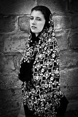 Illusive Charm (dannyboydphoto) Tags: portrait blackandwhite woman white black mystery lady secret dramatic mysterious foreign bnw illusive canon7d