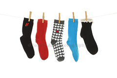 Odd Socks (Brenda Carson_songbird839) Tags: blue red white black cute wet stockings fashion socks lost grey one missing pattern different heart lace five crochet gray row line clothes clean odd whitebackground wash laundry bow stray hosiery hanging clothesline isolated hung clothespins drying clothespeg unmatched anklesocks edging washline