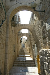 Jewish Quarter (lazy daisy, drive me crazy) Tags: street city shadow stairs israel alley ruins arch jerusalem middleeast oldcity jewishquarter