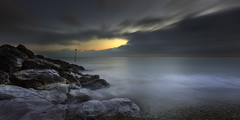 Hythe (richard carter...) Tags: longexposure sunset seascape hythe 1635 eos5dmk2