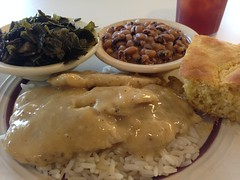Tuesday Lunch at Mama Annie's - h5483 (SouthernBreeze) Tags: trip travel family friends light people food usa black art chicken apple table geotagged fun photography restaurant photo al unitedstates dish rice image i5 huntsville alabama plate southern photograph meal greens peas eyed supper cornbread ios geotag hsv collard iphone blackeyedpeas marsala 2014 southernbreeze sooc iphoneography mamaannies