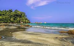 Teluk Cempedak (Ameen Ashraf) Tags: trees sea sky cloud beach beautiful sand rocks malaysia pahang telukcempedak my