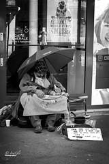 On the streets of Paris (digitalfailure) Tags: street white black paris canon photography streetlife beggar brianwoods 5dmk3 inaglo