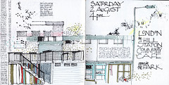 London huddle (skyeshell) Tags: city london buildings sketch cafe lewisham sketchbookjournal urbansketchers drawingfromdirectobservation