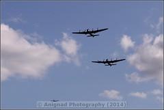 Avro Lancasters with Hawker Hurricane Mk2C (G.L. Photography) Tags: lifeboat devon lancaster spitfire blades redarrows raiders chipmunks seaking rnli spearman beech18 dawlishairshow yak32