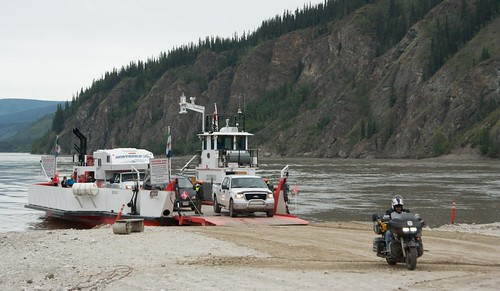 Ferry across Yukon River