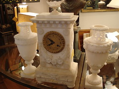 "ALABASTER CLOCK SET, FRENCH, C. 1840. • <a style=""font-size:0.8em;"" href=""http://www.flickr.com/photos/51721355@N02/14878228946/"" target=""_blank"">View on Flickr</a>"