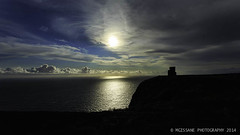 Bell Tower, Cliffs of Moher (GissaneM) Tags: sunset other holidays clare places 2014 obrienstower augustcliffsofmoher