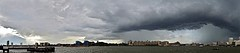 Storm Panorama (Deepgreen2009) Tags: city panorama cloud storm london weather thames river wide canarywharf cumin
