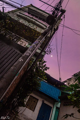A new day has just started (Black Baron93) Tags: new city light moon vertical canon dawn twilight wide earlymorning first tokina vietnam beginning saigon newday wideanglelens verticalview widelens ubran tokina1116 canon600d canonkissx5
