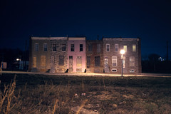 (patrickjoust) Tags: street city urban usa house color abandoned 120 film home night analog america dark lens us md focus long exposure mechanical empty united release tripod north patrick maryland rangefinder slide cable row baltimore chrome vacant after 6x9 medium format states tungsten manual expired joust 90mm e6 fujinon balanced discontinued estados f35 reversal filmphotography unidos originalphotography autaut fujichromet64 patrickjoust fujicagw690 photographersontumblr