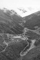 Barrage de la Grande Dixense valley view (gerdvanmechelen) Tags: mountains monochrome clouds switzerland grande suisse dam val gerd vanmechelen dhrens dixense