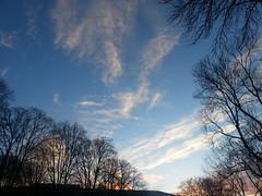 Clouds of art (behinddreaming) Tags: morning winter sky clouds sunrise dunedin nwn universityofotago otagomuseum