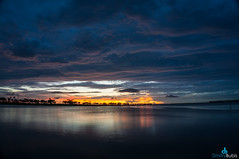 Foil Sunset (dbubis) Tags: sunset beach skyline clouds tampa mirror dramatic drama causeway bubis dbphoto