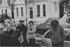 Conor + Jack + Random Follower (Casey Mark Brown) Tags: blackandwhite bw london film 35mm skateboarding pentax kodak grain skate portsmouth vans cheesey supreme petersfield nikesb sp500