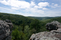 Ozark National Forest (Eric Hunt.) Tags: sky green clouds forest sandstone erosion layers geology karst