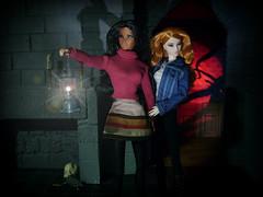 Lost Dolls (MiskatonicNick) Tags: doll dolls spooky 16 diorama morningdove isha kyori fashionroyalty sixthscale itbe integritytoys playscale kyorisato dollhouselighting shimmeringcopper