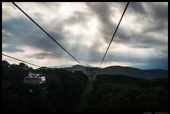 Hakone ropeway (Joni Kantonen) Tags: sky sun mountain car sunshine japan japanese tokyo fuji cable rope beam cablecar hakone ropeway