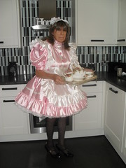 PINK SATIN COSPLAY MAIDS OUTFIT 033 (madam fifi1) Tags: pink uniform cosplay satin maids leatherdressandpinksatincosplaymaidsoutfit